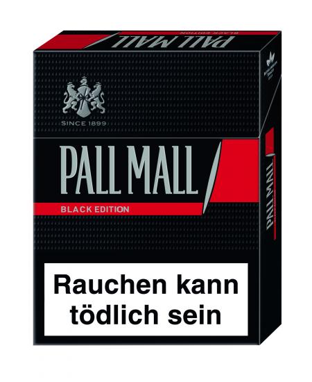 Zigaretten Pall Mall Black Edition XL 12x22 mit Filter ... Pall Mall Black