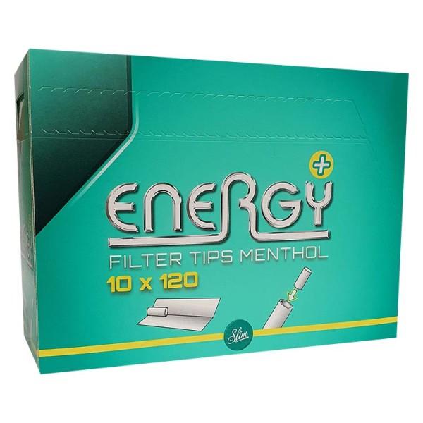 Energy+ Menthol Filter Tips 10x120
