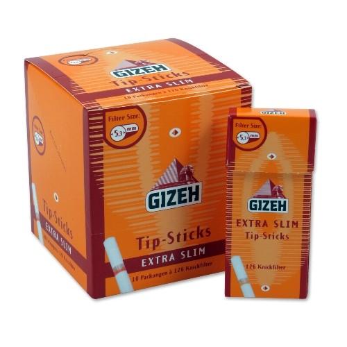 Zigarettenfilter Gizeh Tip Sticks Extra Slim 1 Päckchen à 126 Drehfilter