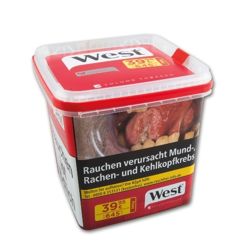 West Zigarettentabak Red Volume Tobacco 290 Gramm