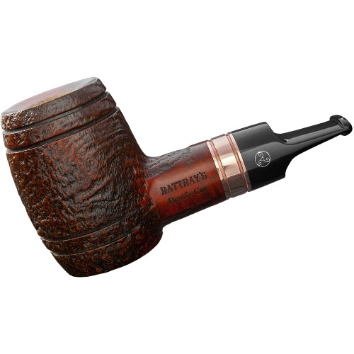 Pfeife RATTRAY´S Devil's Cut sandblast brown Whiskypfeife Kupferring