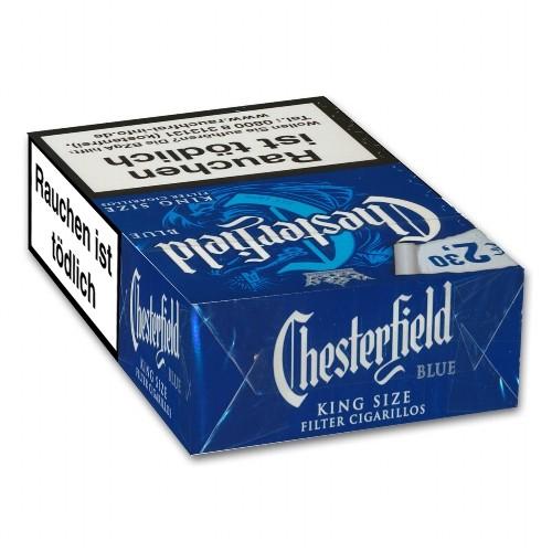 Chesterfield Blue Naturdeckblatt 17 Filterzigarillos
