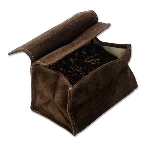 Tabakstellbeutel klein aus Wildleder in dunkelbraun