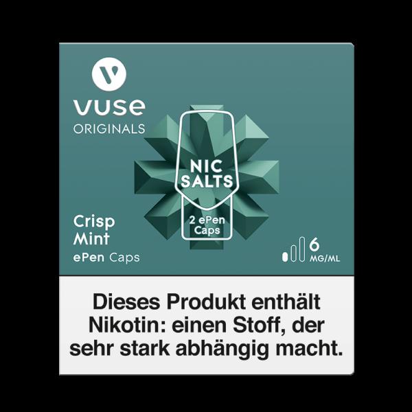 E-Zigarette Vuse ePen Caps Crisp Mint 6 mg 2 Caps
