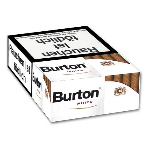 Burton White Naturdeckblatt 17 Filterzigarillos