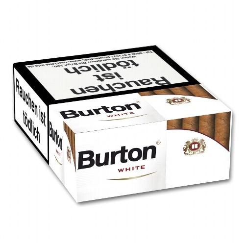 Burton White Naturdeckblatt 25 Filterzigarillos