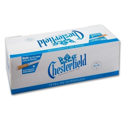 Zigarettenhülsen Chesterfield Blue Extra 1.000 Stück