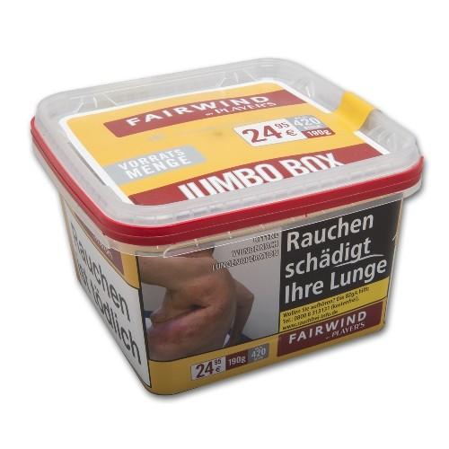 Zigarettentabak Fairwind by Player's Red Volumen Eimer 170 Gramm