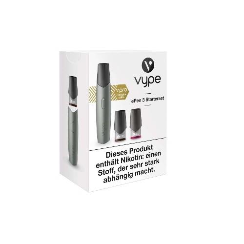 E-Zigarette VYPE ePen 3 Starterset Silber 12 mg vPro 2 Caps