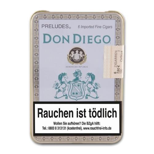 Don Diego Preludes 6 Zigarren