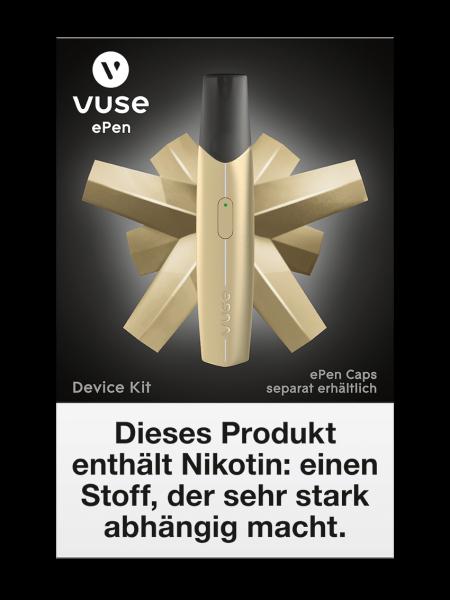 E-Zigarette Vuse Starterset ePen Device Kit Gold 0 mg