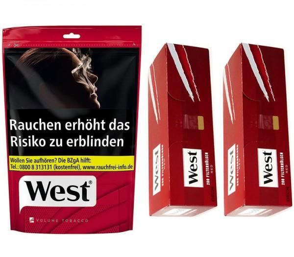West Volumentabak 170 Gramm + 400 Hülsen