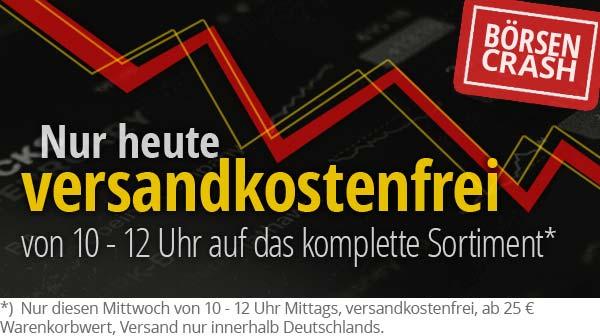 Diesen Mittwoch: Keine Versandkosten, ab 25 € Warenkorbwert!