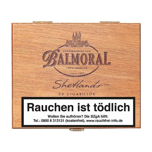 Balmoral Shetlands Sumatra 50 Zigarillos