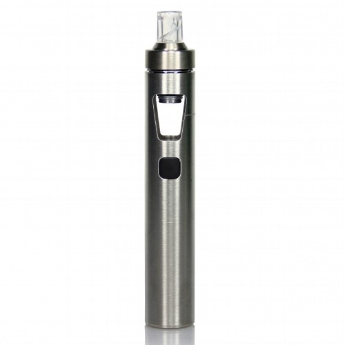 E-Zigarette InnoCigs eGo Aio mit 1.500 mAh 0,6 Ohm aus Edelstahl Pyrexglas in silber