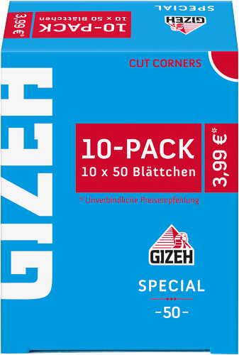 Zigarettenpapier GIZEH Special 10x10er Pack