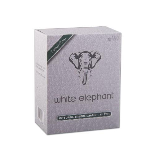Pfeifenfilter White Elephant 150 Natural Meerschaum Filter 9 mm