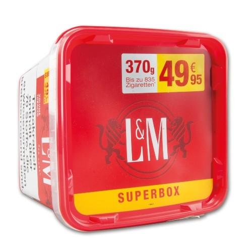 L&M Volume Tobacco Red Zigarettentabak SUPER Box 370 Gramm