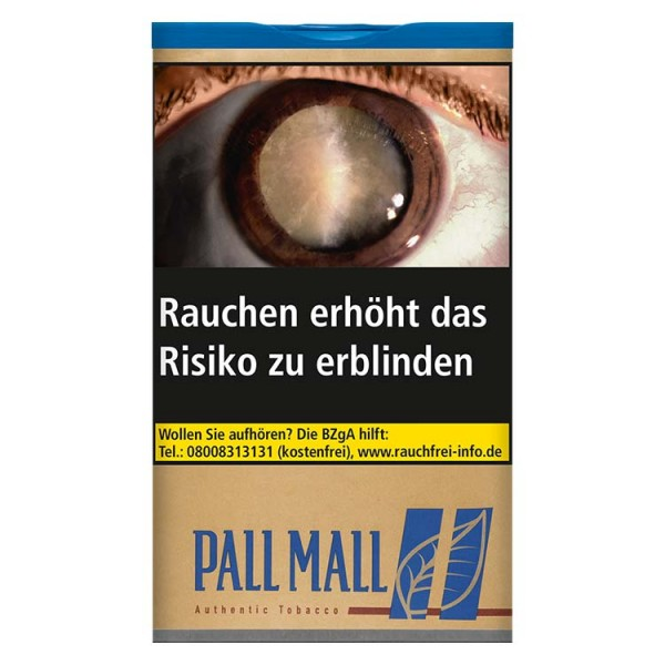 Zigarettentabak Pall Mall Authentic Blue ohne Aromazusätze XL 60 Gramm