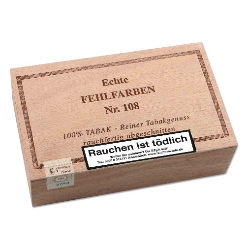 Echte Fehlfarben Nr.108 Sumatra 50 Zigarren