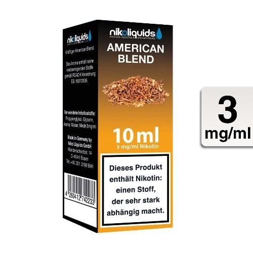 E-Liquid Nikoliquids American Blend 3 mg/ml Flasche 10 ml