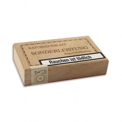 Sonderleistung Sumatra Import-Fehlfarben 50 Zigarillos