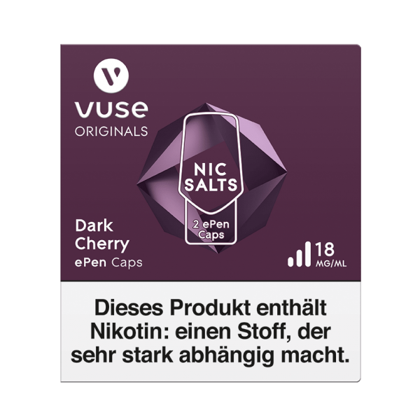 E-Zigarette Vuse ePen Caps Dark Cherry 18 mg 2 Caps