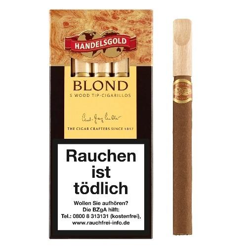 Handelsgold Blond Wood Tip 5 Zigarillos