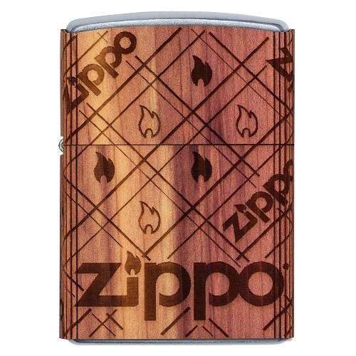 ZIPPO Sturmfeuerzeug Street chrom Cedar Emblem Woodchuck