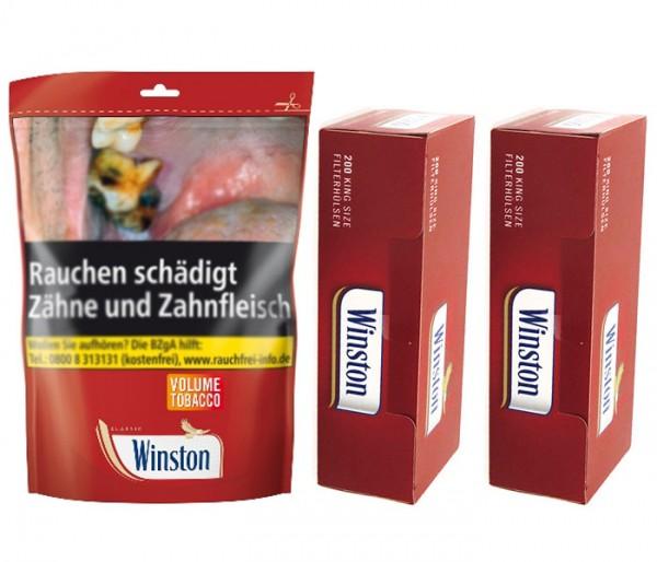 Zigarettentabak Winston Tabak 170 g + 2 x Hülsen á 200 Stk.