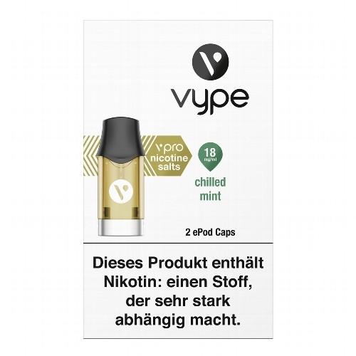 E-Kartusche VYPE ePod Caps vPro Chilled Mint 18 mg 2 Caps