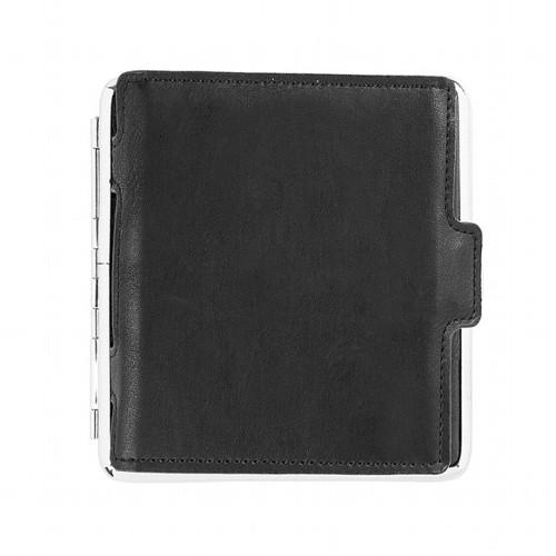 Zigarettenetui 20er King Size 100 mm schwarz mit Kartenhalter