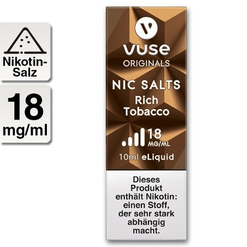 E-Liquid Vuse Bottle Rich Tobacco 18 mg