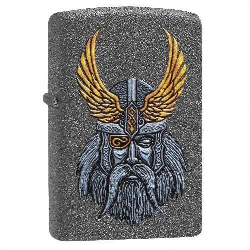 Zippo Feuerzeug Iron Stone Odin Head Design