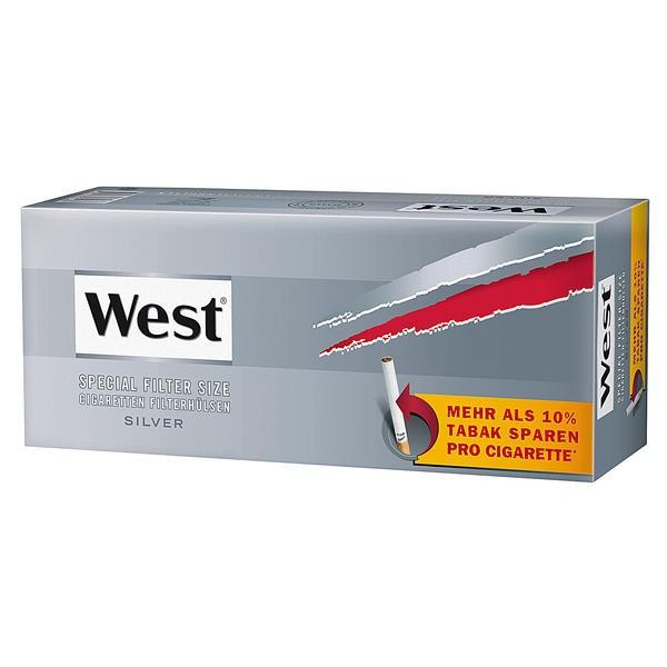 Zigarettenhülsen West Silver Special 250 Stück