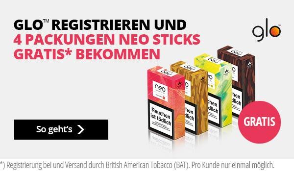 glo Aktion: 4 Neo Sticks gratis