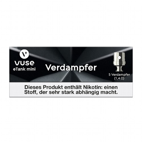 E-Zigarette Clearomizercoil Vuse e-Tank Mini Verdampfer