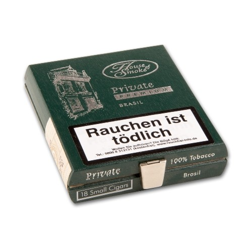 House of Smoke Private Premium Brasil 18 Zigarillos