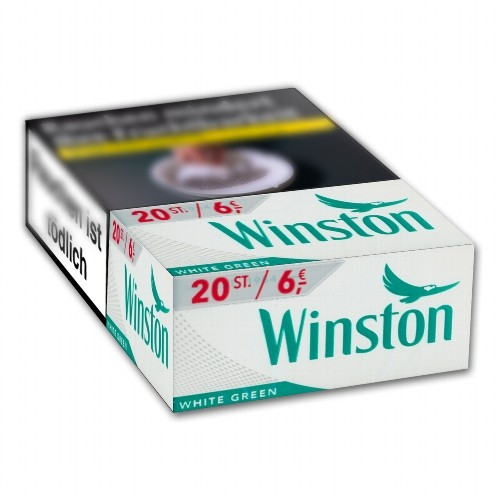 Winston Zigaretten White Green 6,00 Euro (10x20)