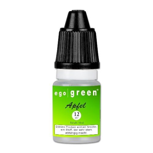 E-Liquid egogreen Apfel 12 mg/ml Flasche 10 ml