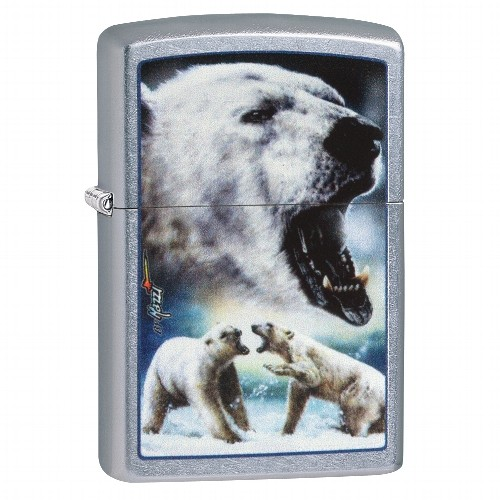 Zippo Street chrom Mazzi Polar Bear