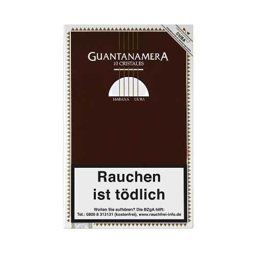 Guantanamera Cristales Tubes 10 Zigarren