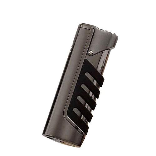 Feuerzeug Eurojet Tapir mit Jetflamme aus Metall satiniert in anthrazit matt schwarz