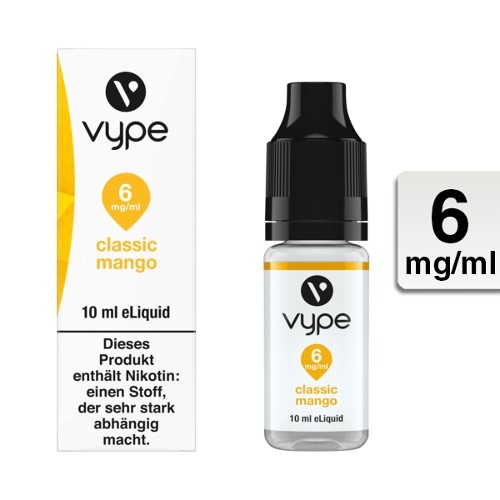 E-Liquid VYPE Bottle EDR Classic Mango 6mg