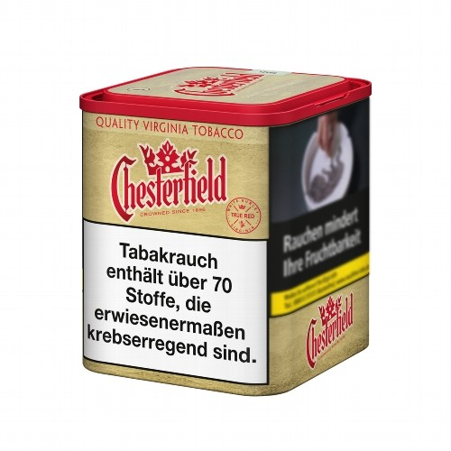 Chesterfield True Red Zigarettentabak ohne Zusätze 95 Gramm