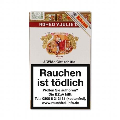Romeo y Julieta Wide Churchills Tubos 3 Zigarren