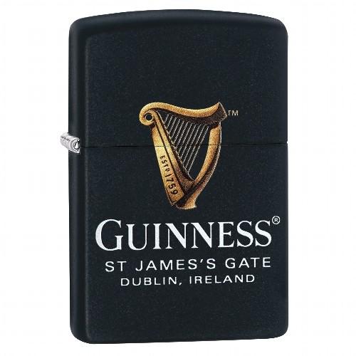 Zippo schwarz matt Guinness 60003926
