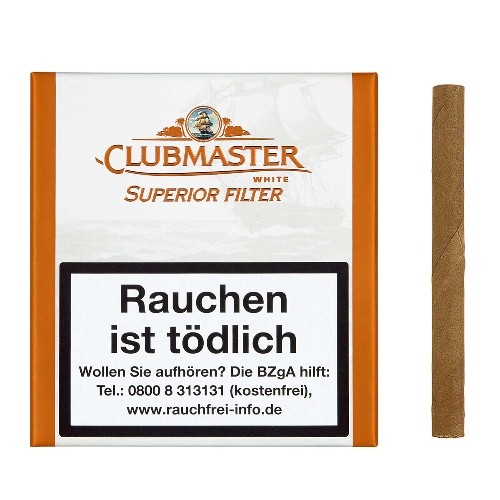 Clubmaster Superior White Filter 20 Zigarillos