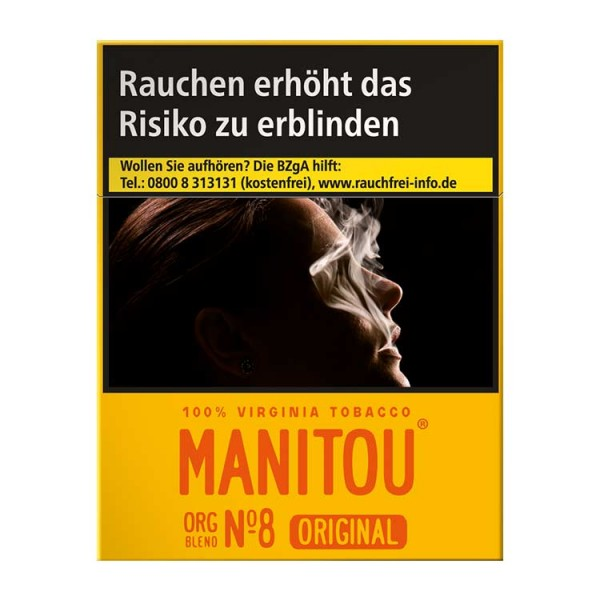 Manitou Zigaretten Org Blend No.8 Big ohne Zusätze (8x25)
