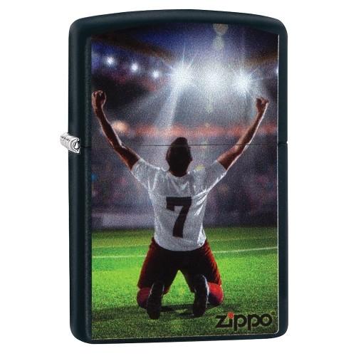 Zippo schwarz matt Winner Soccer Player
